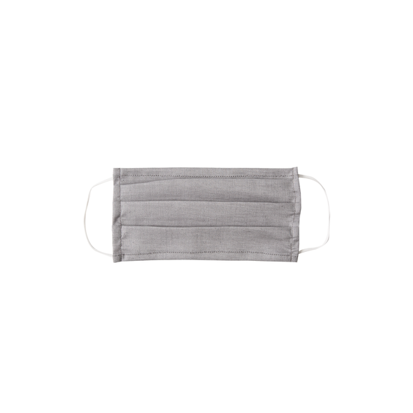 Adult Cloth Face Mask - single layer - organic gray solid