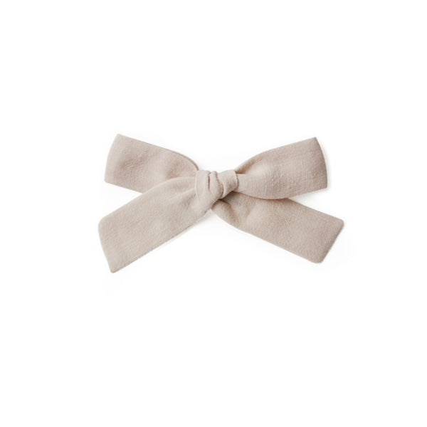 Large Linen Bow - Natural