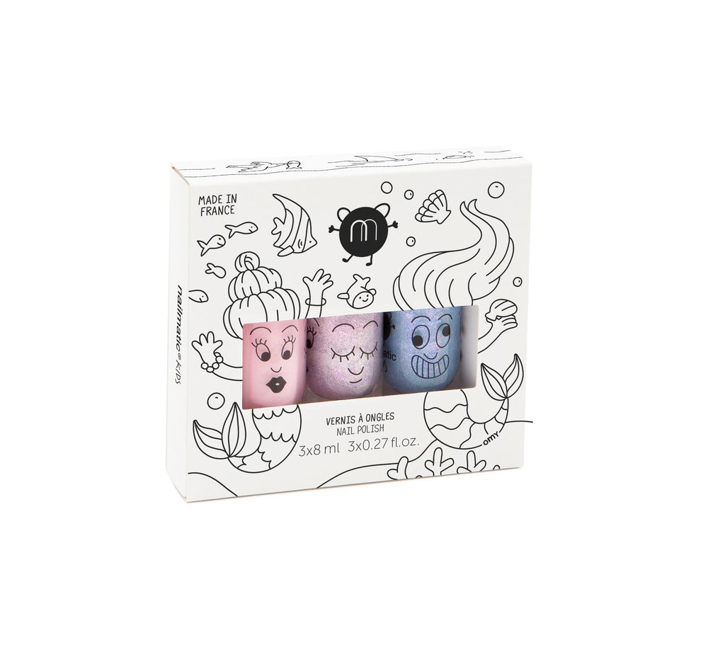 Set of 3 nail polishes – Mermaid <br> Nailmatic