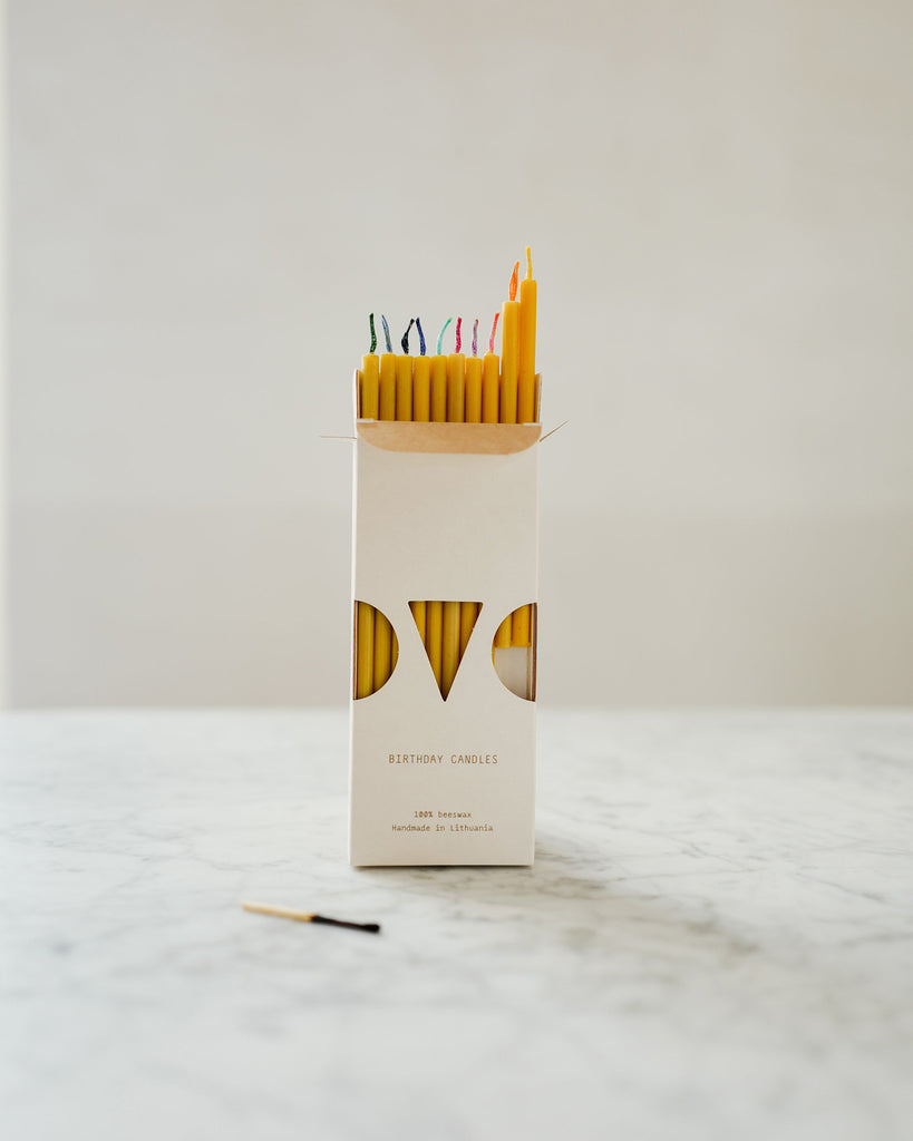 Beeswax Birthday Candles<br>(set of 20)<br>Ovo Things