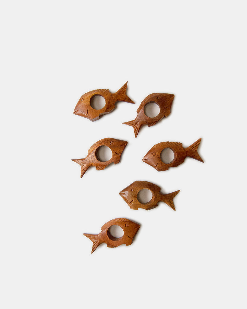 Fish Wooden Napkin Rings
