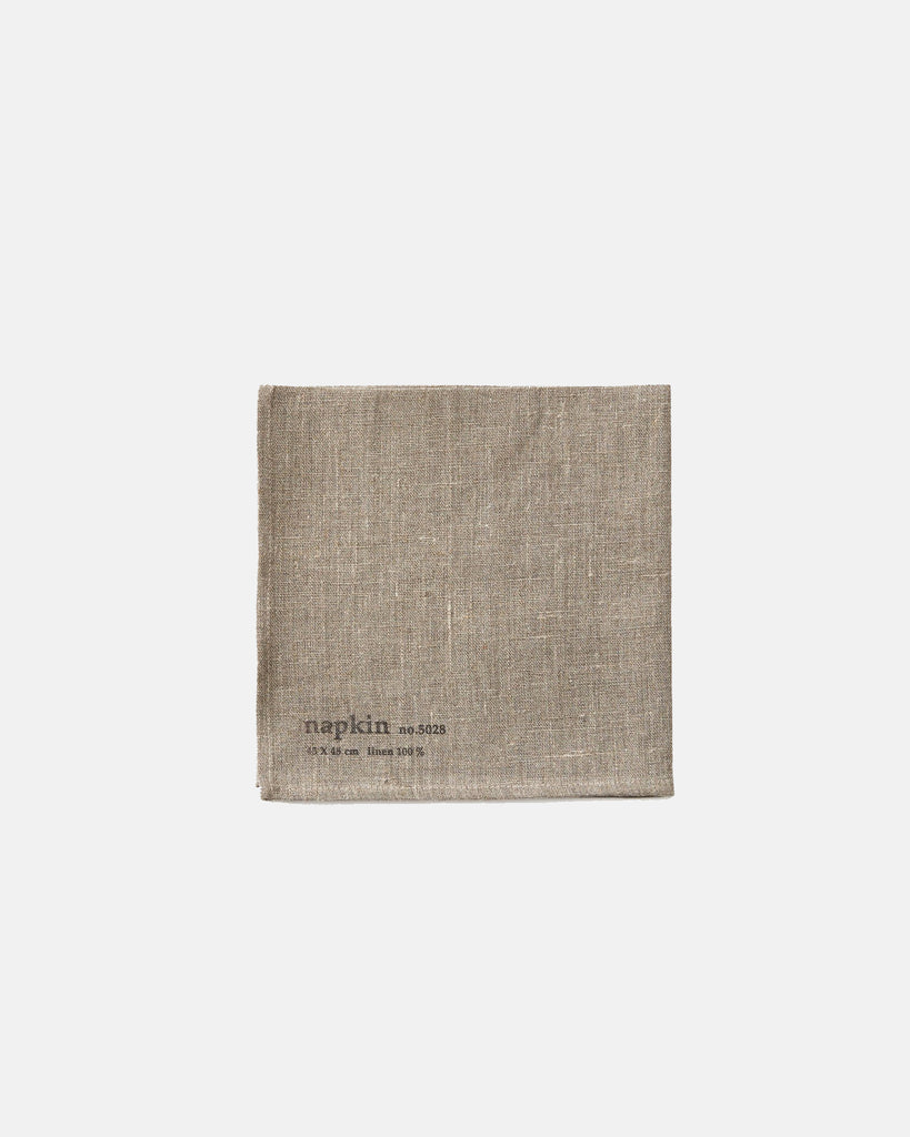 Napkin Set - natural flax with stamp <br>Fog Linen