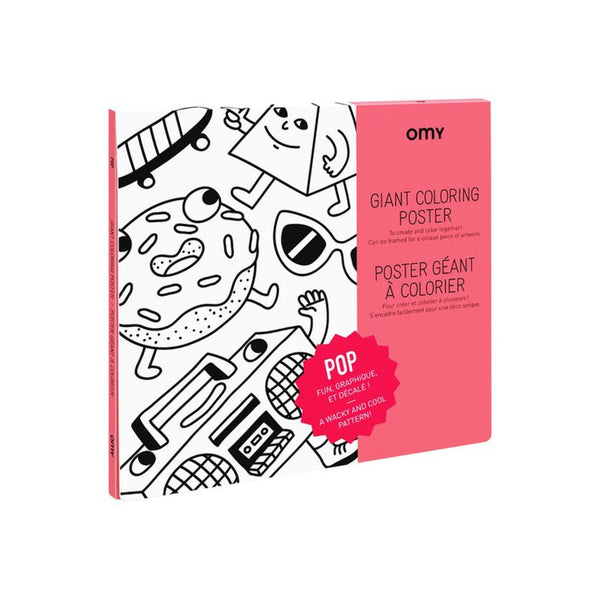 Giant Coloring Poster - Pop<br> OMY