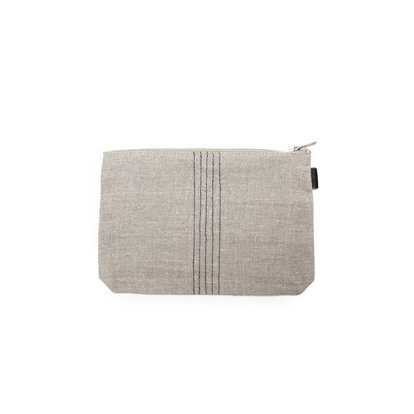 Tina pouch - natural + black<br> fog linen