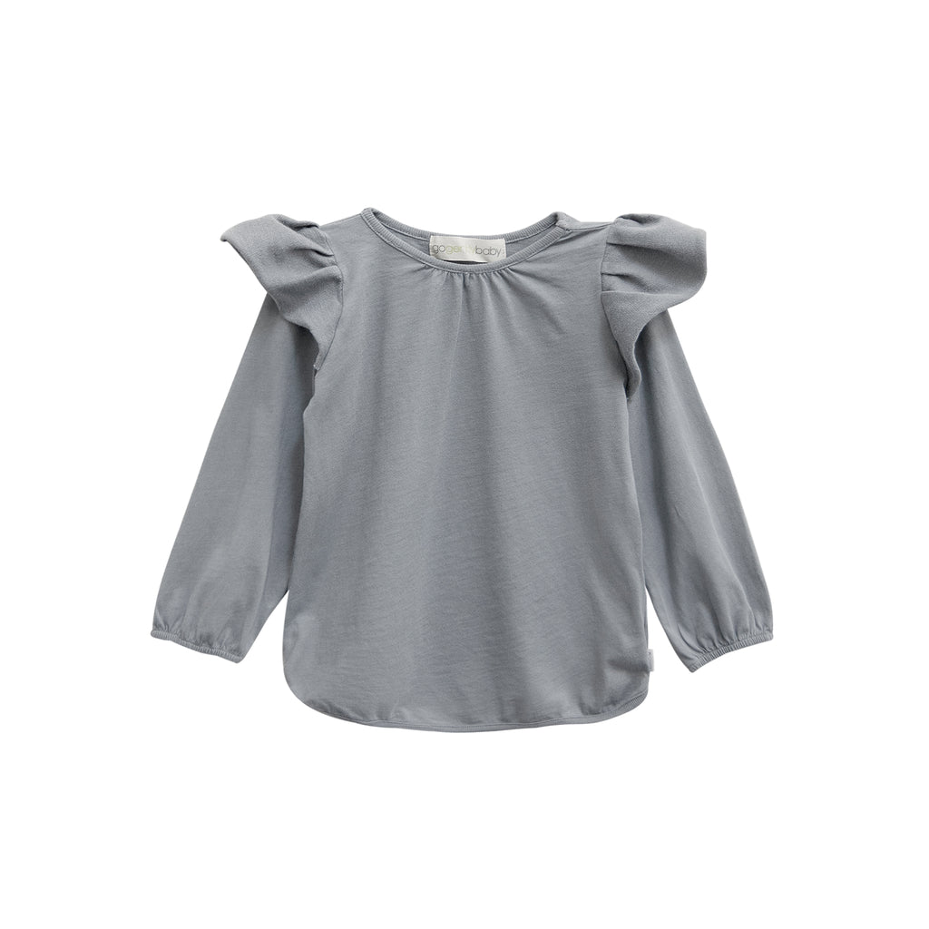 Ruffle shoulder top