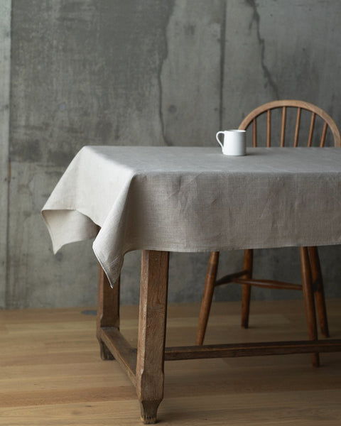 Linen Tablecloth natural <br> fog linen