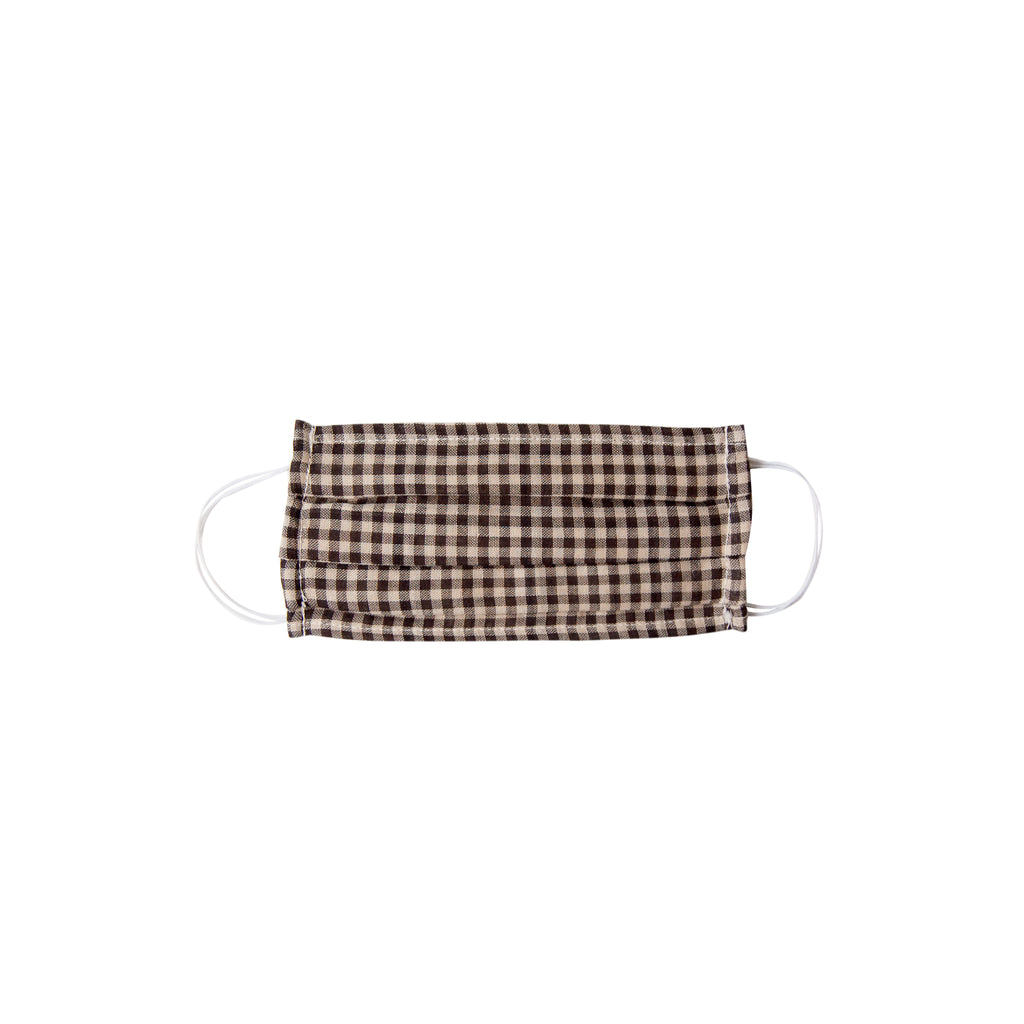 Kids Cloth Face Mask - single layer - tan gingham