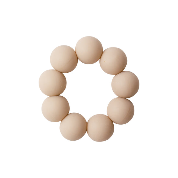Freezable silicone teething toy-cream <br> Dove and Dovelet