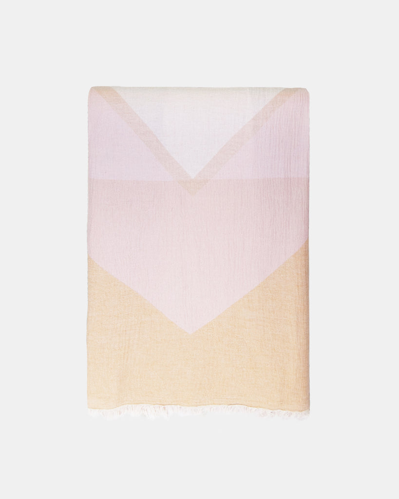Organic Turkish Throw- soft pink and yellow