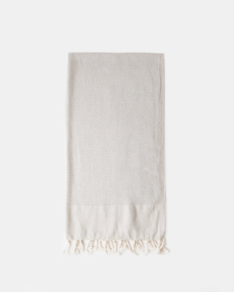 Organic Turkish Throw- soft gray