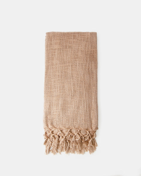 Organic Flax Color Throw Towel