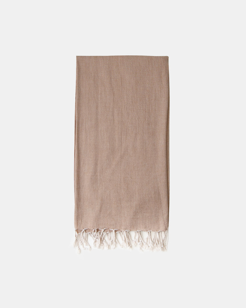 Organic Turkish Throw- soft brown