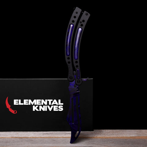 Black Pearl Training Butterfly Knife