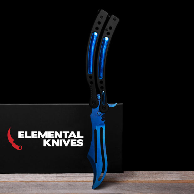 Blue Steel Training Butterfly Knife