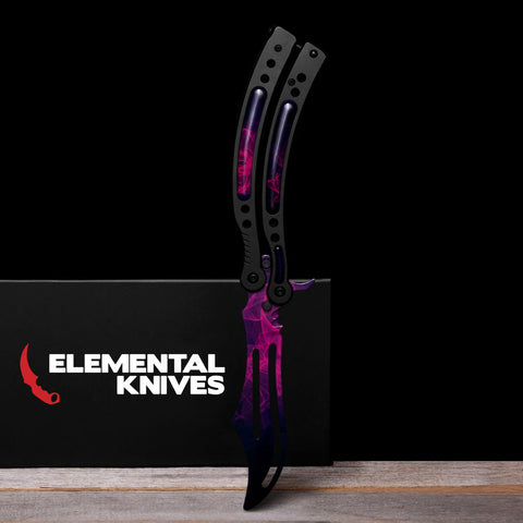 Doppler Phase 2 Training Butterfly Knife