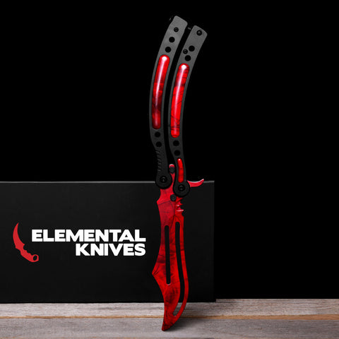Ruby Training Butterfly Knife