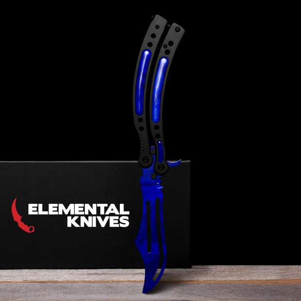 Sapphire Training Butterfly Knife