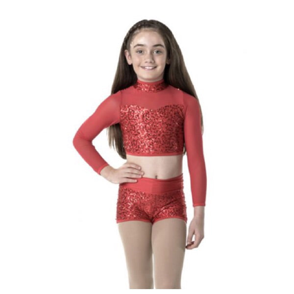 Studio 7 Child Down Town Long Sleeve Crop