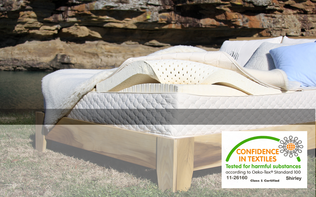 certified organic textiles on all our bedding products mattress pillows and blankets