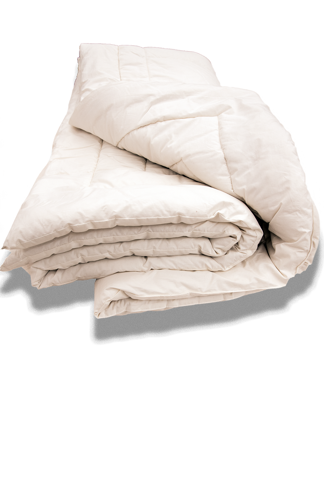 Organic cotton comforter breathes naturally as you sleep.