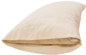 Organic 400-thread count pillowcases are hand-sewn to fit your desired pillow.