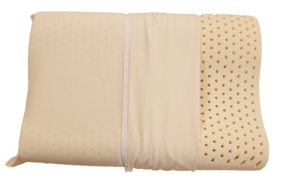 Contour Pillow, made by certified organic latex
