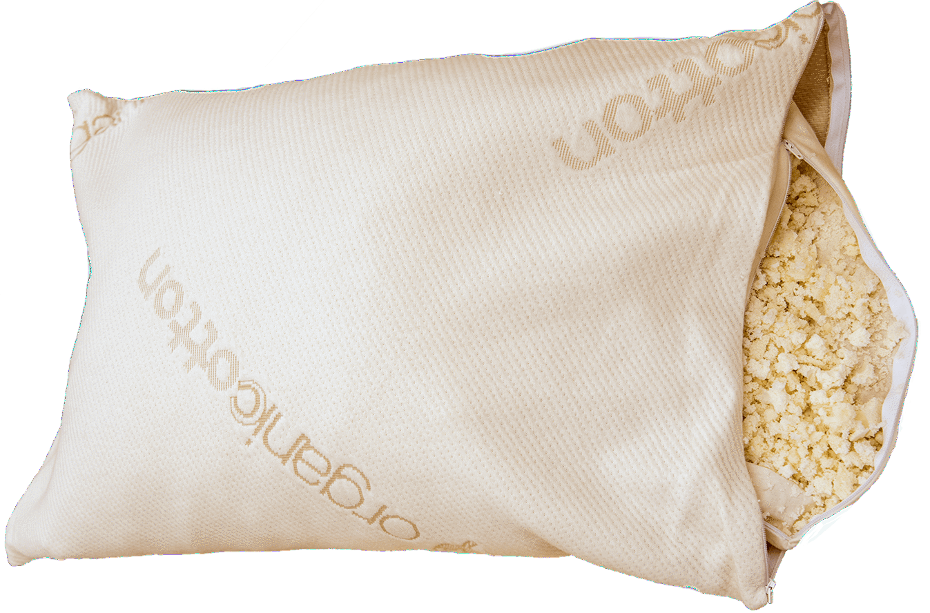 Organic Shredded Rubber Deluxe Organic Pillow is designed for your comfort