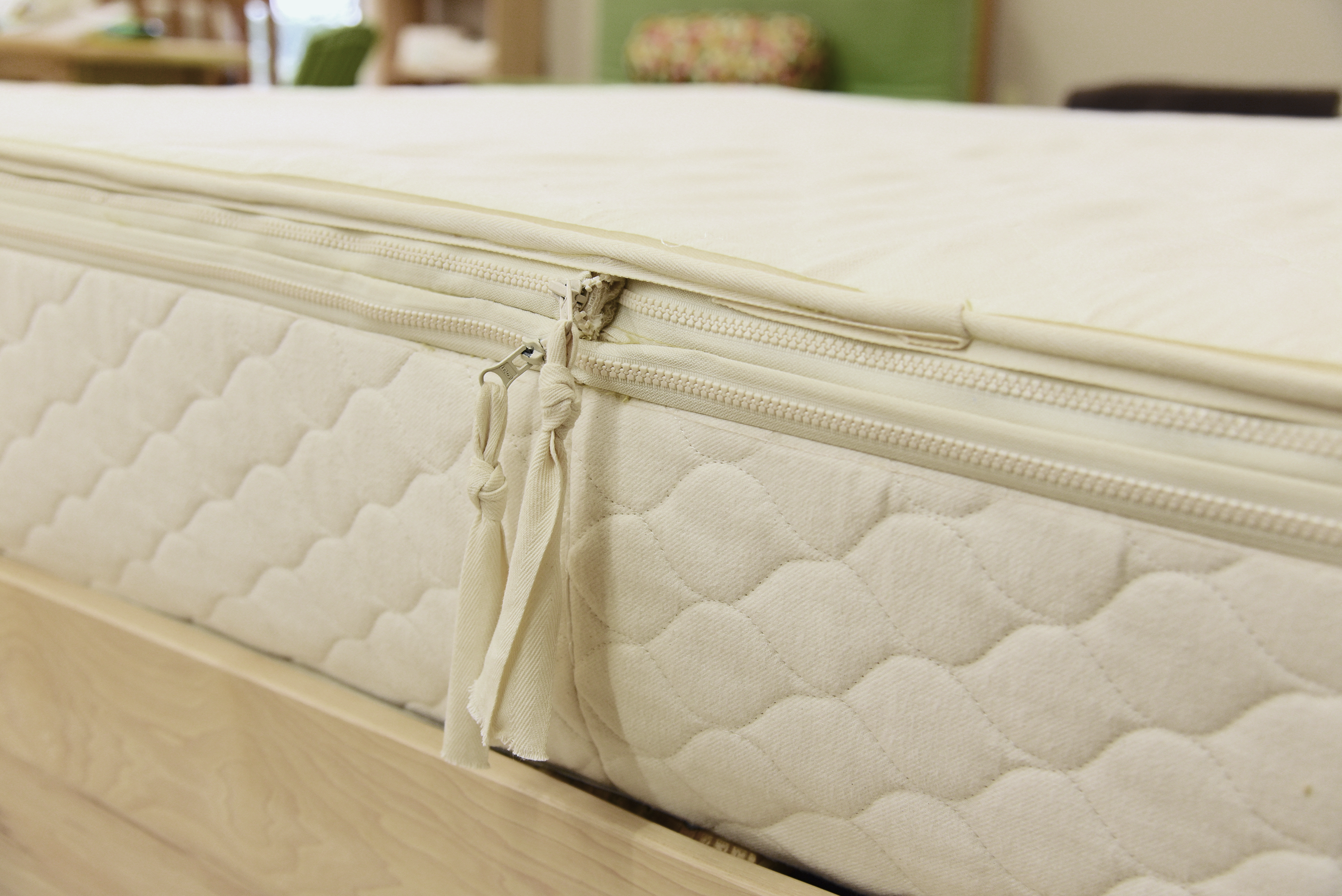 Organic Ozark 2-Layer Mattress quilted mattress expandable zippered casings allow you to select the perfect number of layers