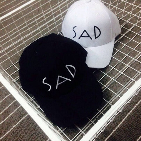 SAD letter Men Women s Snapback Summer polo Sport Hat Outdoor travel sun hat  Casual Denim golf 8f3de422e585