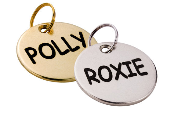 dog tag custom dog tag personalized dog name tag brass or silver