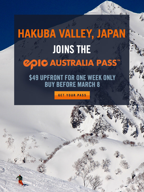 Hakuba Valley, Japan Joins The Epic Australia Pass!