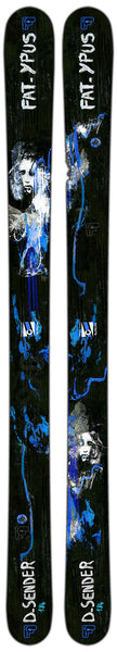 Fat-ypus Handmade Skis available from Blackbird Bespoke skis