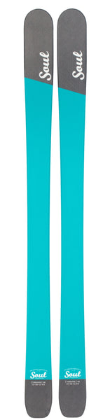 Soul Skis Turquoise for both on and off piste skiing