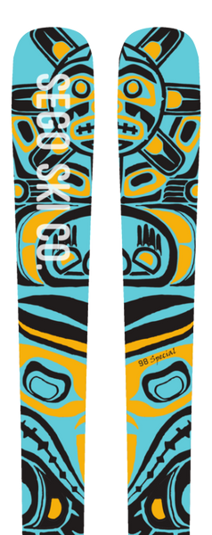 Sego Ski Co handcrafted skis designed by Lynsey Dyer now available at Blackbird Bespoke Ski Co Australia