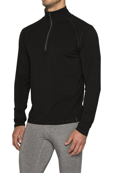 MENS LE BASE 260 MIDWEIGHT BASELAYER 1/2 ZIP 'SECRET STASH'