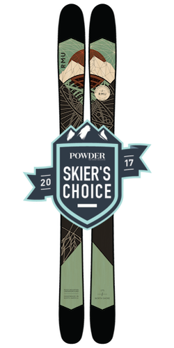 Powder Magazine Skier's Choice 2016 RMU Skis North Shore now available in Australia from Blackbird Bespoke Skis