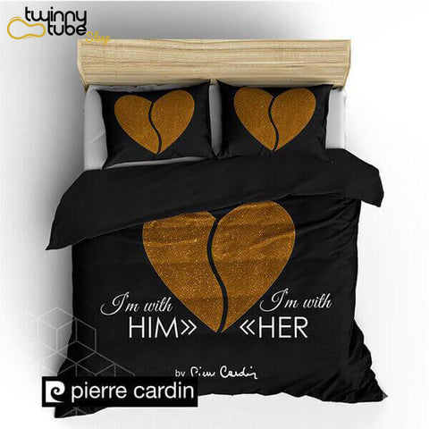 "PIERRE CARDIN ""HEART BLACK GOLD"""
