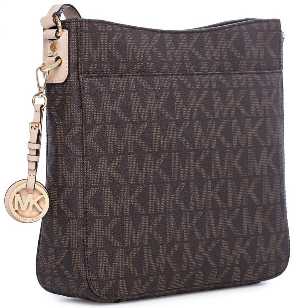 b06fc064d31486 ... Michael Kors 30T2GTVM3B-200 Jet Set Travel Large Monogram Logo  Messenger Bag for Women ...