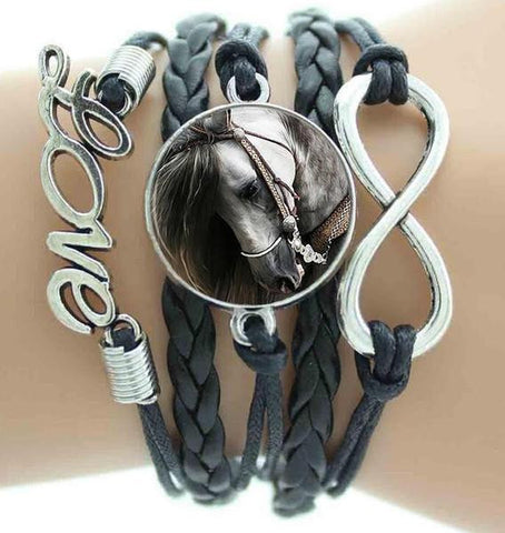 Love Horse Handmade Leather Bracelet