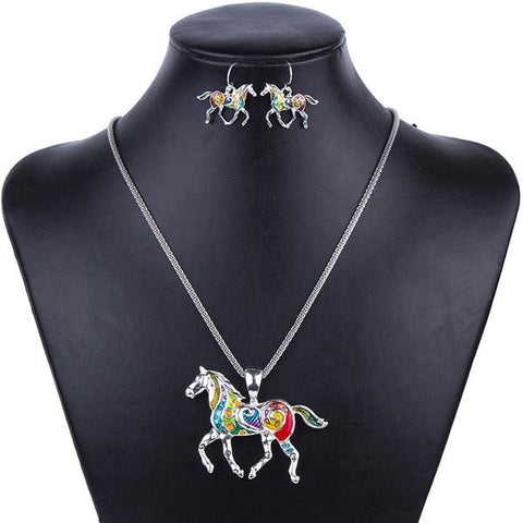 Fashion Horse Jewelry Set