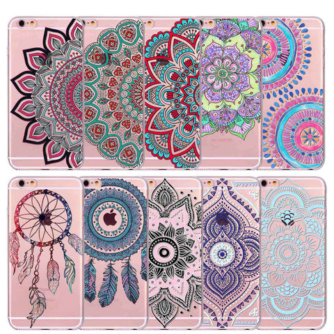 Mandala Henna Paisley Flower iPhone Cases