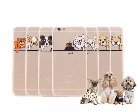 Cartoon Transparent Back Cover IPhone Case - Promo