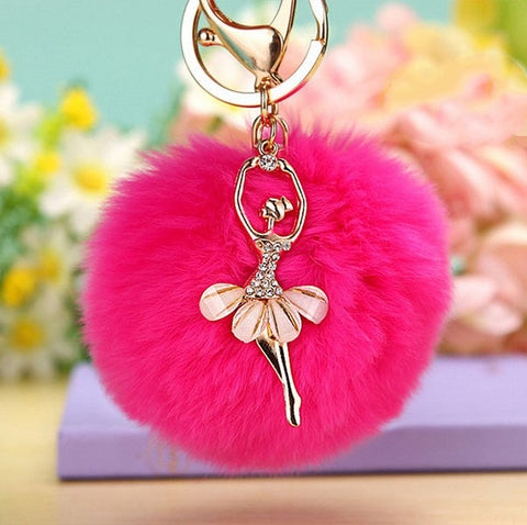 Fluffy Ballet Keychain Giveaway