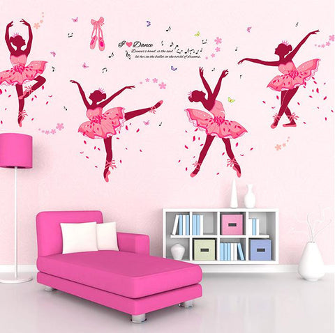 Ballet Girl Wall Stickers