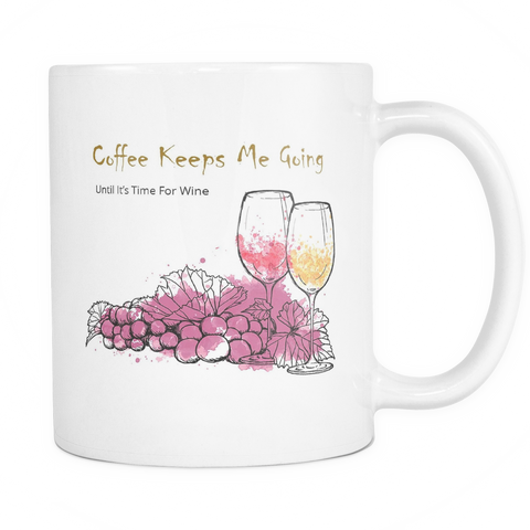 It's Time For Wine Mug