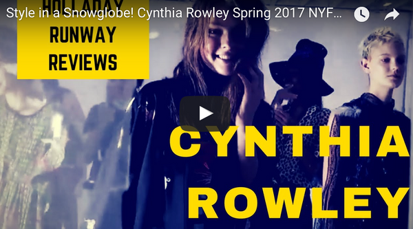 Style in a Snowglobe: Cynthia Rowley New York Fashion Week Show Review