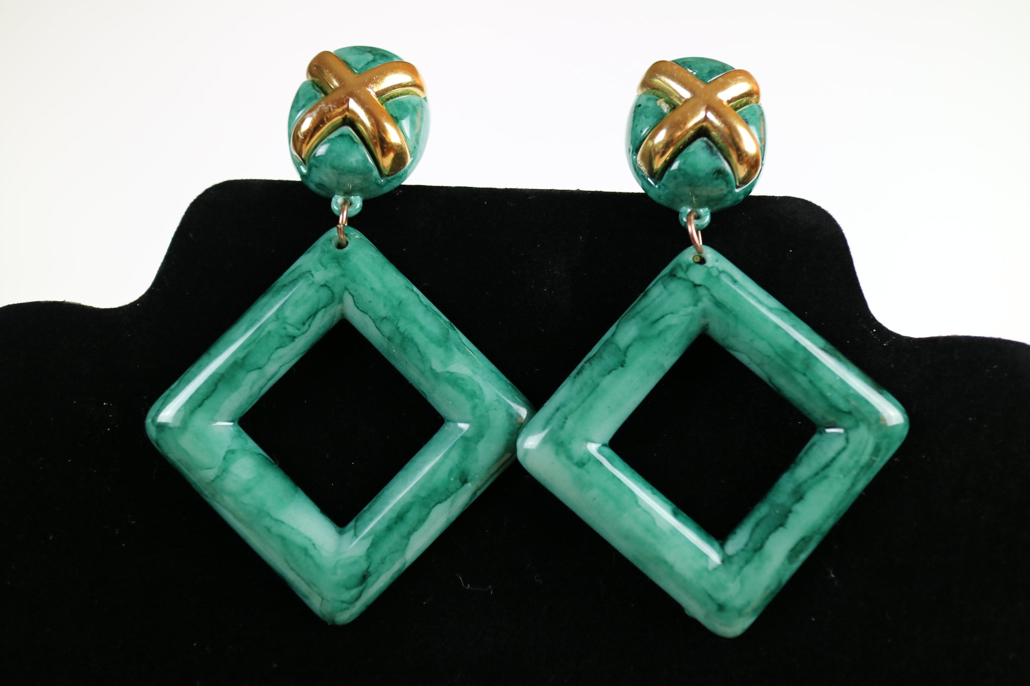 X Stands for Xmas Statement Green Earrings