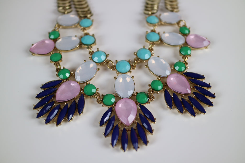 Couture Christmas Statement Collar Bib Necklace