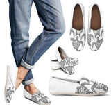 White Sea Turtle Pattern Casual Shoes - FREE SHIPPING