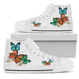 Women's Hi-Top Butterfly Shoes - FREE Shipping
